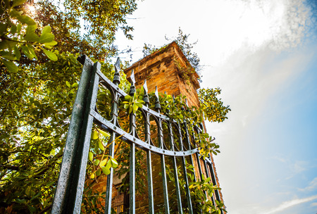 metal gate: Ancient metal gate. Stock Photo