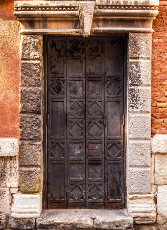 metal door: Ancient Venetian metal door.