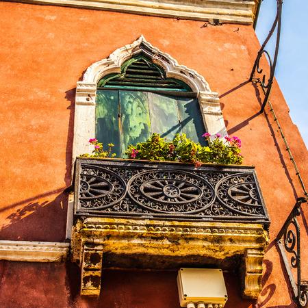decorative balconies: Ancient Italian traditional window.