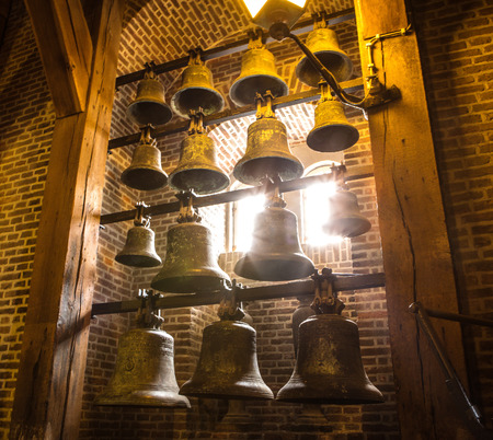 Old bells in bell tower of Westerkerk.