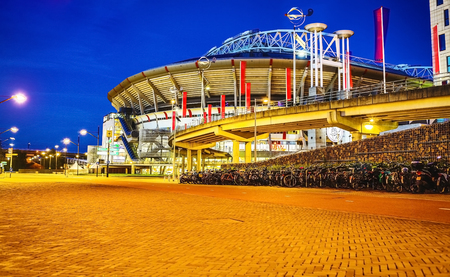 AMSTERDAM, NETHERLANDS - MAY 26, 2017: Amsterdam Arena stadium, the largest stadium in Netherlands. Home stadium for AFC Ajax and the Netherlands national team. Amsterdam - Netherlands. Редакционное
