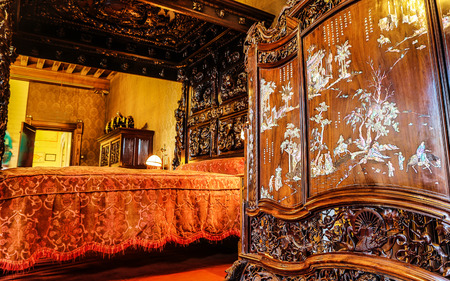UTRECHT, NETHERLANDS - MAY 27, 2017: Luxury interior of Castle de Haar. It was built by the master of the Dutch Neo-Gothic Kuipers, for members of the Rothschild family. Utrcht, Netherlands - May 27. Editorial