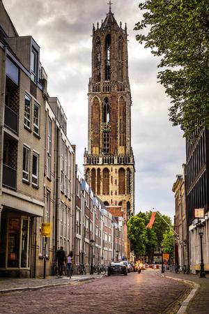 dom: Ancient European church close-up. Utrecht - Holland.