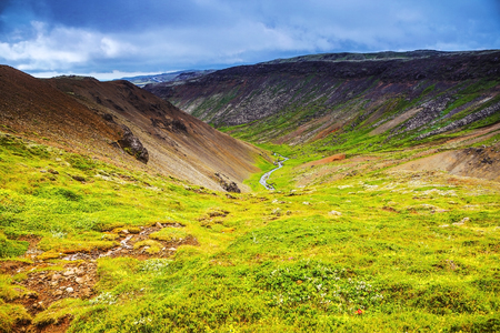 Beautiful scenic landscape of Icelandic nature.