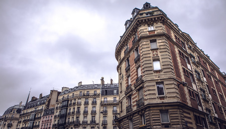 Traditional architecture of residential buildings. Paris - France. Stock Photo