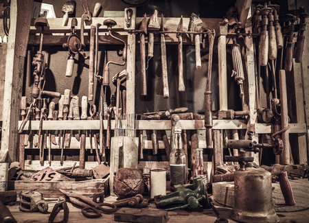 Workshop with old tools as a conceptual background.