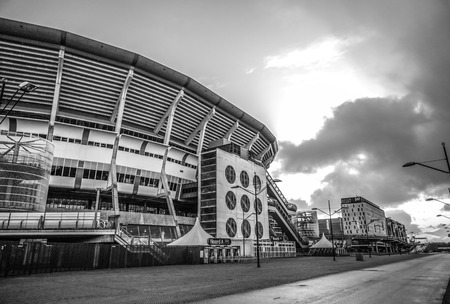 AMSTERDAM, NETHERLANDS - JANUARY 03, 2017: Amsterdam Arena stadium, the largest stadium in Netherlands. Home stadium for AFC Ajax and the Netherlands national team. Amsterdam - Netherlands. Редакционное