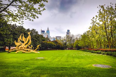 Traditioneller chinesischer Stadtgartenpark.