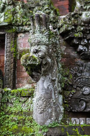 INDONESIA, BALI - JANUARY 20, 2011: Balinese traditional religious sculptures close-up.