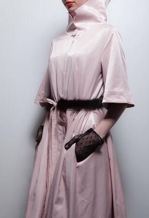 Fashion designer clothes close-up.