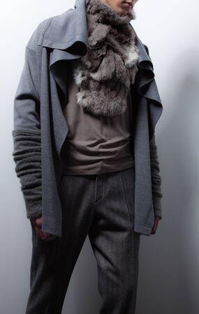 Men fashion designer clothes close-up. Фото со стока
