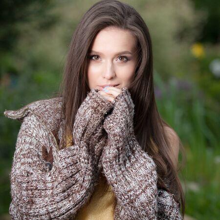 Portrait of beautiful young girl. Standard-Bild