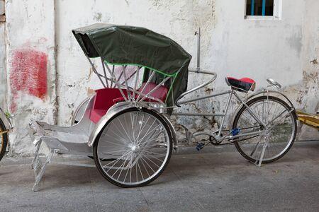 Traditional street bike car in Malaysia.