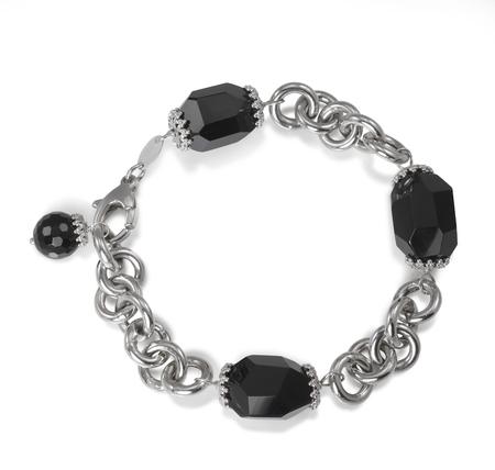 black onyx: Black Onyx Bead Fine Jewelry Bracelet