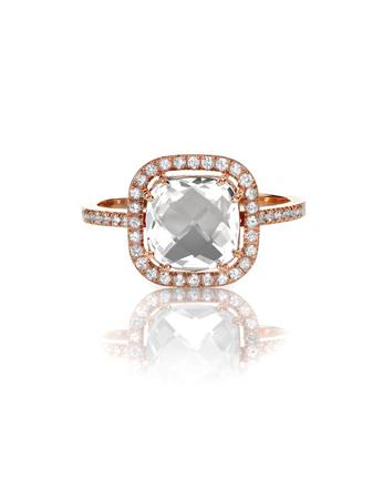 wedding band: Cushion Cut Diamond Wedding band engagement ring