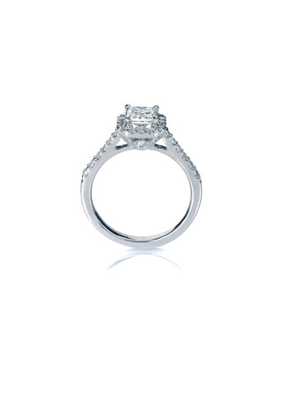 Beautiful Diamond Wedding band engagement ring Banque d'images