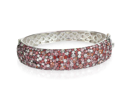 Bangle Bracelet red ruby garnet