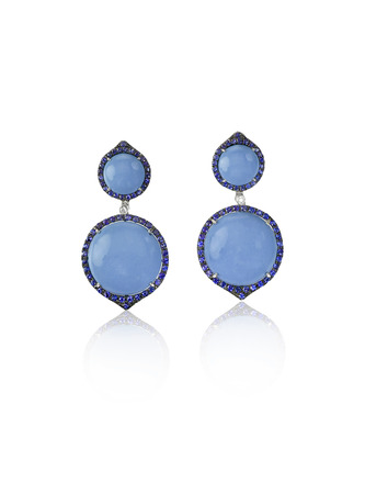 lapis: Blue Opal Fashion Drop Earrings