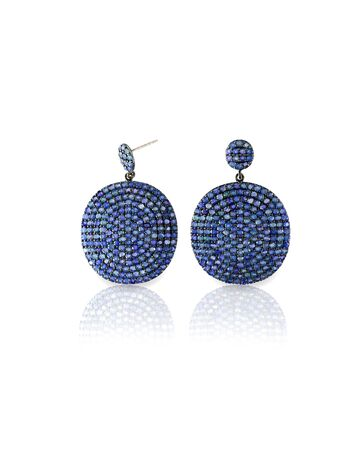 marquise: Sapphire Blue earrings isolated on white