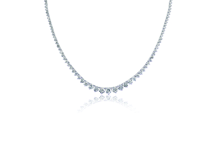Beautiful Diamond Necklace isolated on white