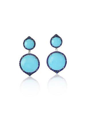 opal: Blue Opal Fashion Drop Earrings