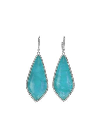 marquise: Blue Opal Fashion Drop Earrings