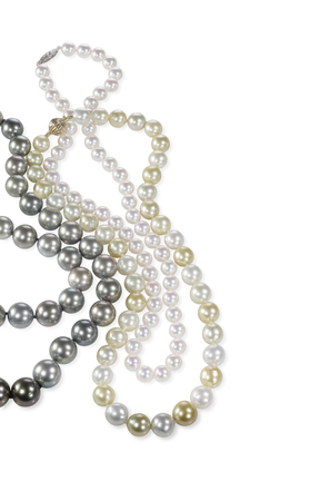 beatiful: Beatiful pearl necklace isolated on a background Stock Photo