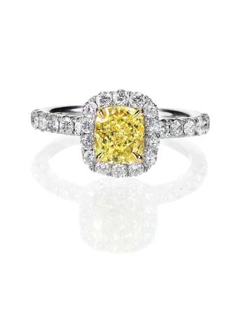 topaz: yellow diamond colored engagement ring topaz citrine