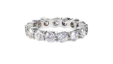 pave: diamond gold wedding engagement band ring