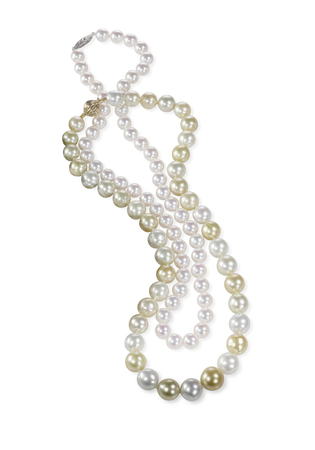 Beatiful pearl necklace isolated on a background 版權商用圖片 - 54802276