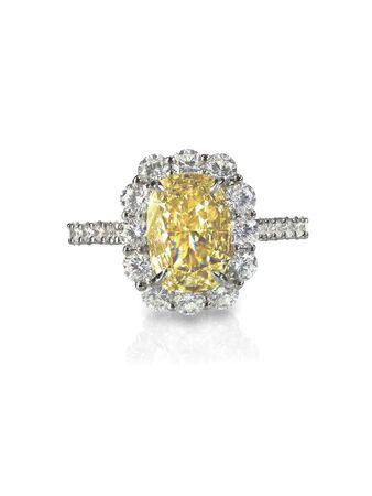 citrine: yellow diamond colored engagement ring topaz citrine