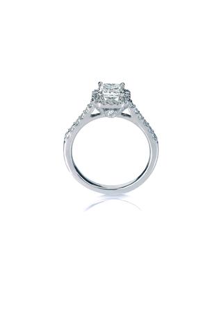 Beautiful Diamond Wedding band engagement ring 版權商用圖片