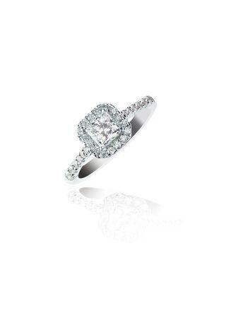 Princess Cut Diamond Wedding band engagement ring 版權商用圖片