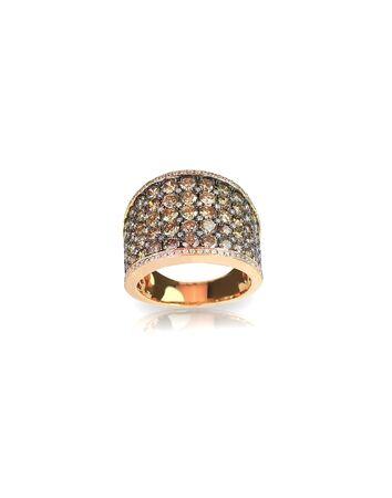 chocolate diamond gold wedding engagement band ring for fashion isolated on white 版權商用圖片