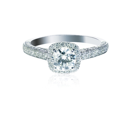 Beautiful Diamond Wedding band engagement ring 写真素材