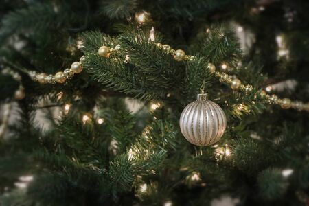Christmas tree ornament background graphic element