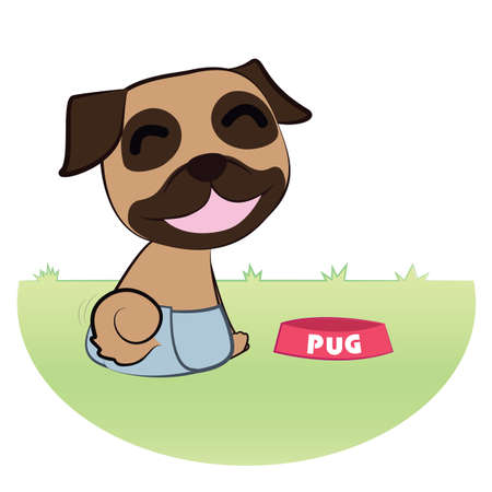 em: pug in pant