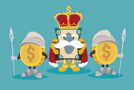money king is king of money kingdom and he appear with money warrior