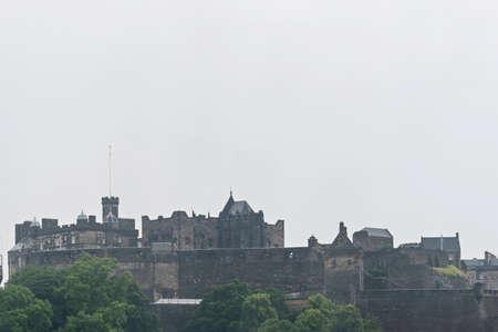 Edinburgh old town cityscape Stock Photo