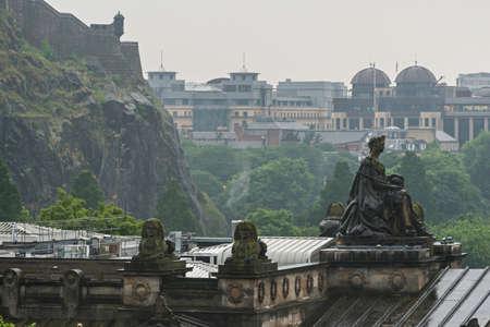 Edinburgh old town cityscape Editorial