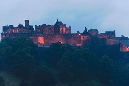 Edinburgh castle night view Editorial