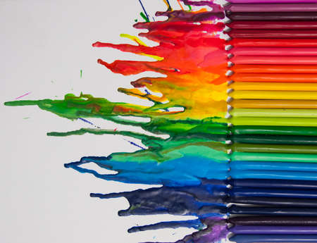 Melted crayon art photo
