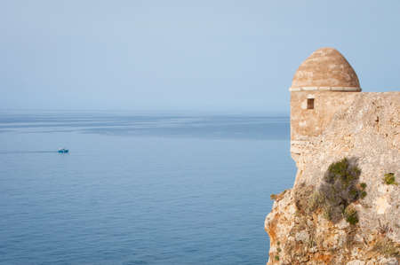 Rethymno fortress and view of surrounding sea