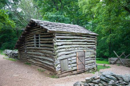 19th Century Log Barn in Appalachians 2
