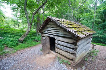 19th Century Log Barn in Appalachians 1 Stock Photo