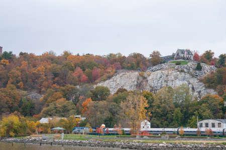 Fall foliage in mountains of Peekskill New York