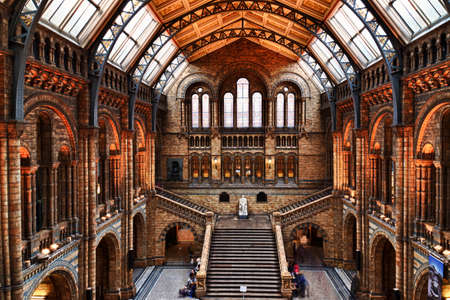 LONDON, circa 2016 - Wide angle view of the Natural History Museum in London, England, UK