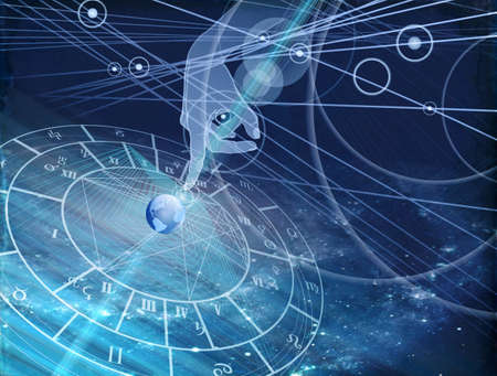 destiny: astrological chart Stock Photo
