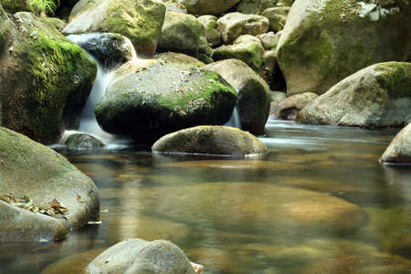 River scenics with water blur.