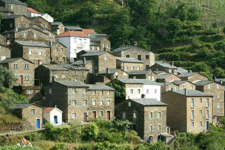 vieille ville sur la montagne Banque d'images